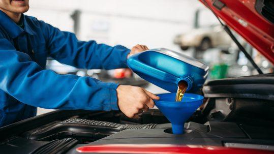 hydraulic oil or engine oil